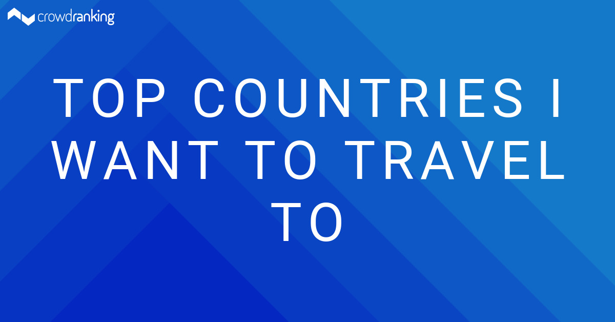 Top Countries I Want To Travel To Crowdranking